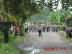 50 Police with rifles and batons blocked remedy yapen1