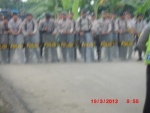 50 Police with rifles and batons blocked remedy yapen2