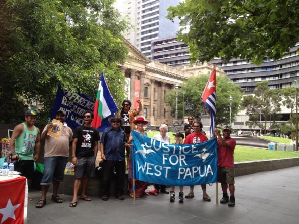Photo Free West Papua Campaign Melbourne, Australia January 17th, 2013