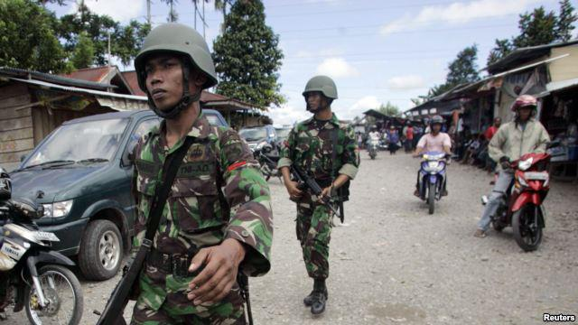 Troops patrolling Wamena - February 25 (photo: supplied)