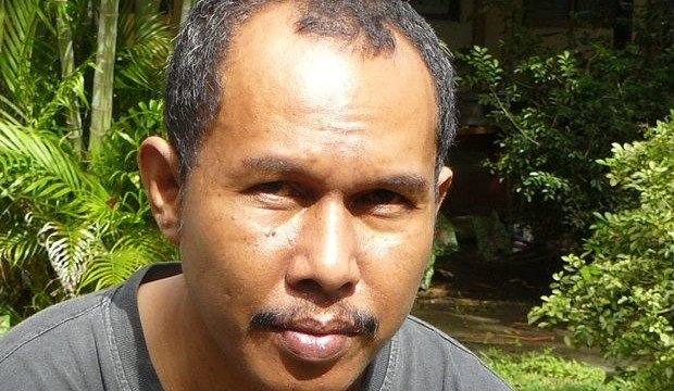 Pioneering West Papua journalist Victor Mambor, Chairman of Journalists Alliance (AJI) Papua, Editor of Tabloid Jubi, media freedom advocate and Journalism trainer (photo: Jubi
