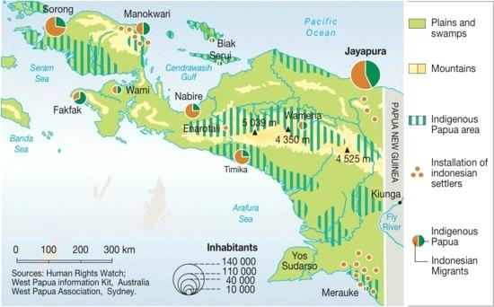 Demographic dispersal in Papua