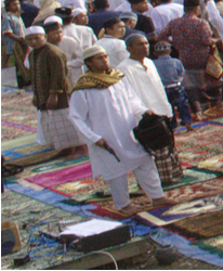 Evidence for the use of fire arms by the by Muslim community praying at the  big field in Tolikara 2