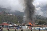 Closeup of Incident Location next to the Tolikara airstrip (photo: JPIC/WPM)