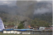 Incident Location next to the airstrip of Tolikara from distance (photo: JPIC/WPM)